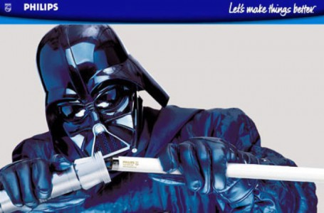 Philips Commercial: Darth Vader changes the bulb of his light sword
