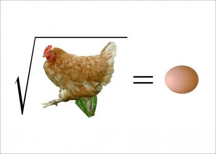 Math: root chicken = egg
